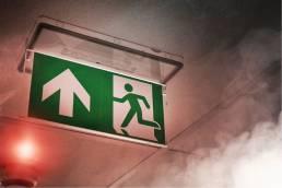 Emergency Lighting Sign Smoke and Light